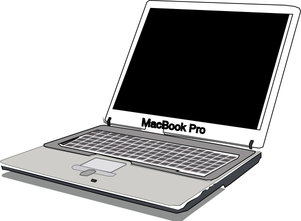Apple Macbook Pro Clipart.