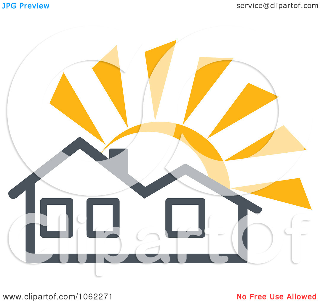 Clipart Solar Powered House 1.