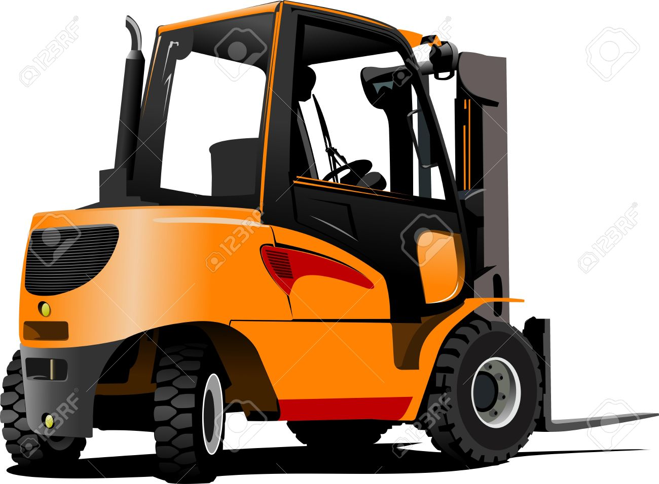 Lift Truck. Forklift. Illustration Royalty Free Cliparts, Vectors.