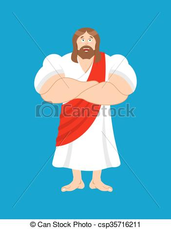 Jesus is powerful clipart.