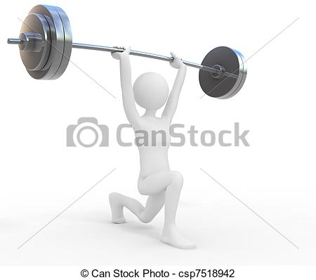 Clip Art of Powerful weightlifter csp7518942.