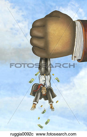 Stock Photography of Hanging, turned upside down, squeezing.