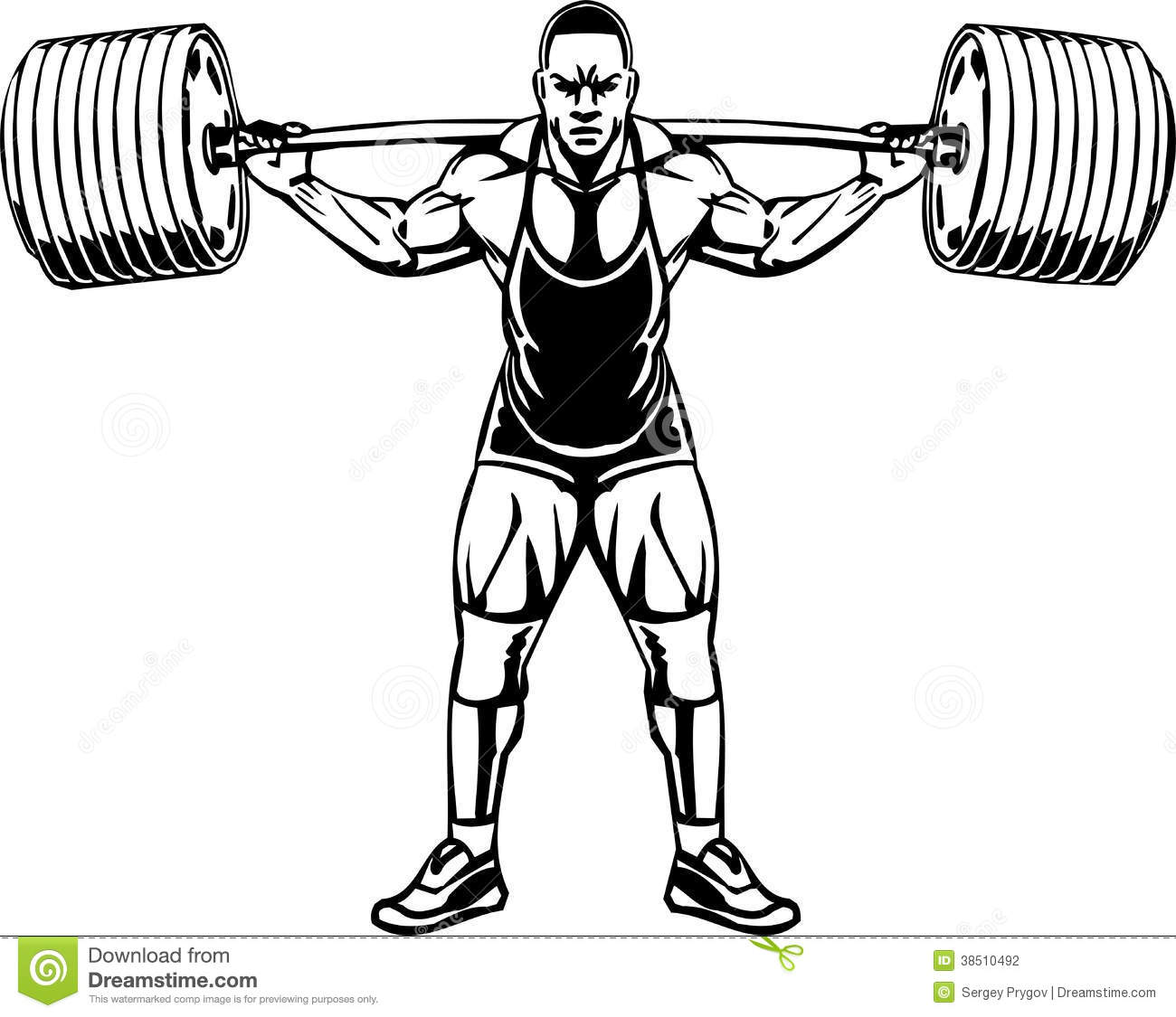 Powerlifting Stock Illustrations.