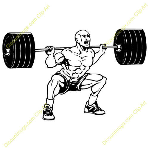 Free Guy Lifting Weights Clipart Custom Clip Art 13929.