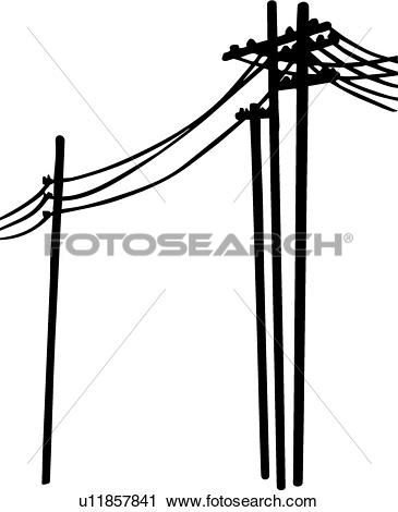 Clipart of Power Lines u11857841.