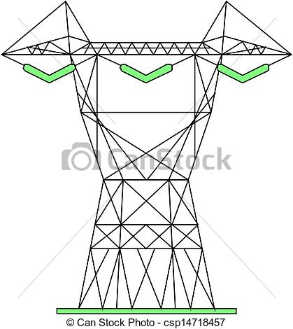 Clipart Vector of Power lines csp14718457.