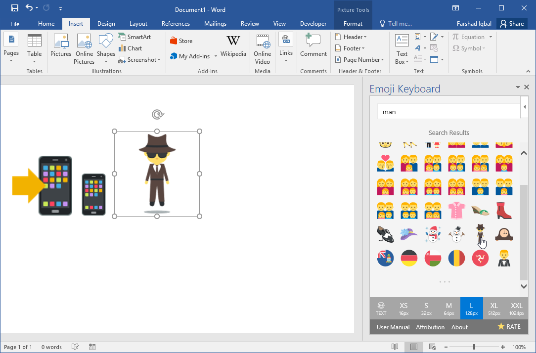 How to install a set of Emojis in Word and PowerPoint.