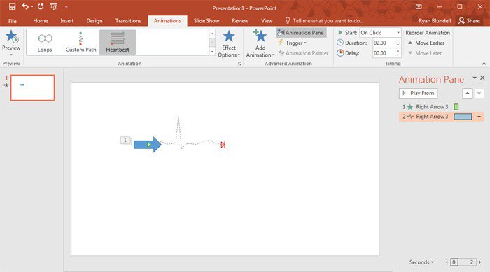 How to create animations in PowerPoint 2016.