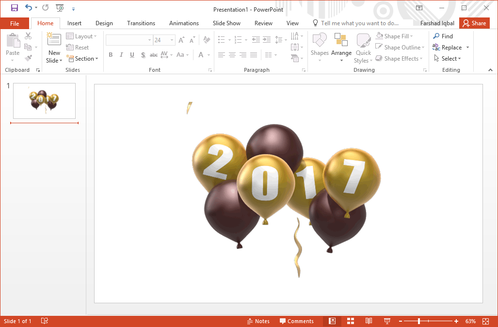 Best 2017 New Year Clipart For PowerPoint.