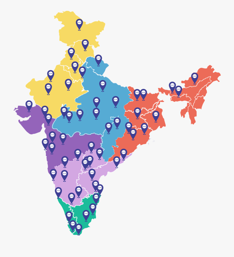 India Map For Powerpoint , Free Transparent Clipart.