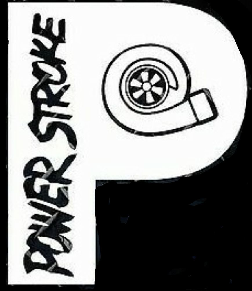 Powerstroke turbo diesel vinyl sticker (rear) chrome color.
