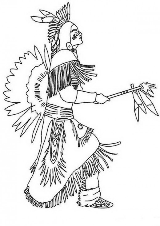Native Americans Clipart Black And White Pow wow clipart...