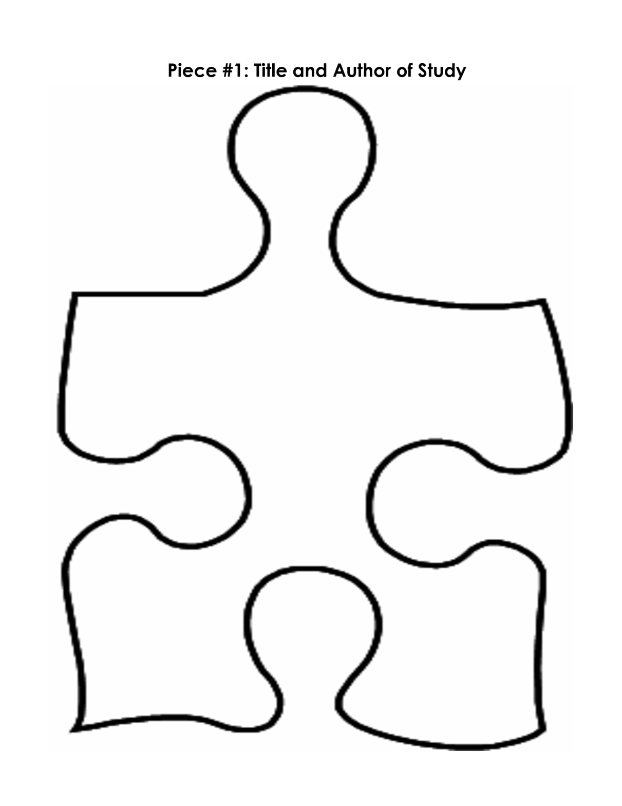 Puzzle Piece Mystery Book Template PP Clipart.