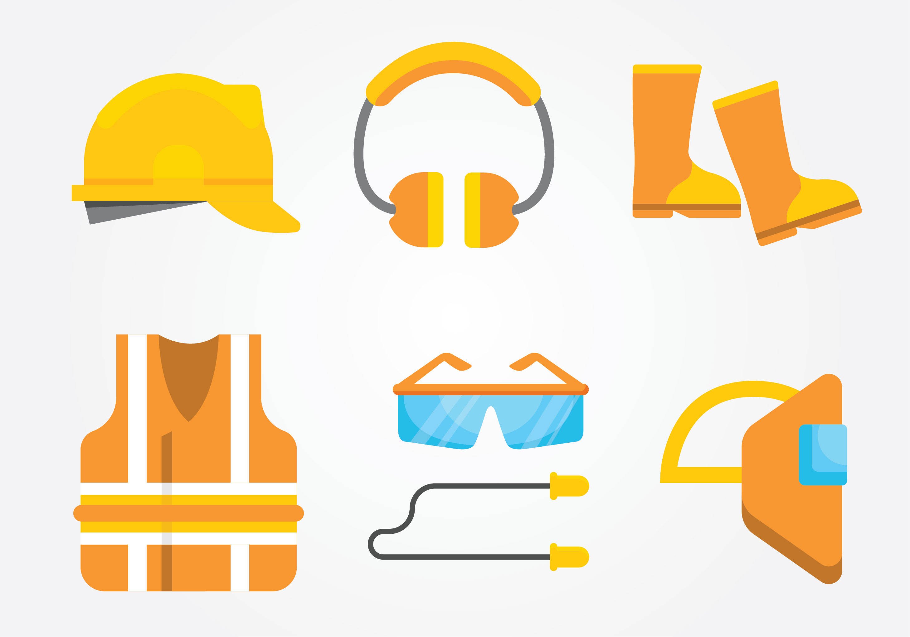 Safety Ppe Free Vector Art.