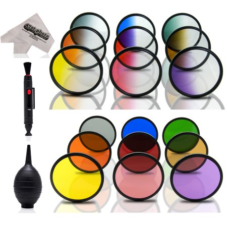 Opteka Color Filter Kit with Microfiber and Brush.