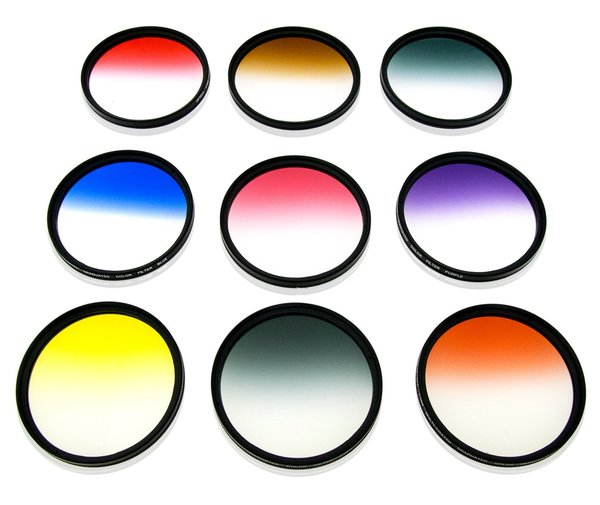 Opteka 62mm HD Multicoated Graduated Color Filter Kit For Digital.