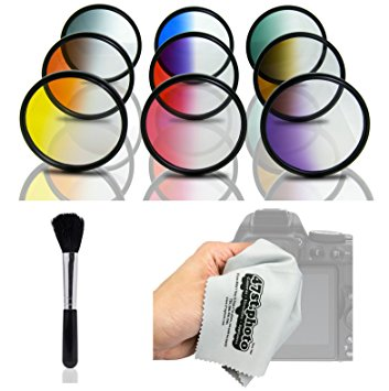 Amazon.com : Opteka HD Multicoated Graduated Color Filter Kit for.