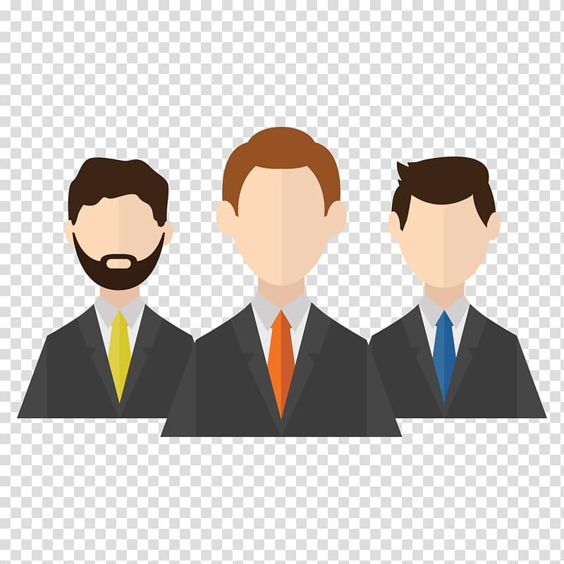 Three dressed man , Client Icon, Businessman icon design.