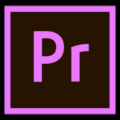 Premiere pro pr colored icon.