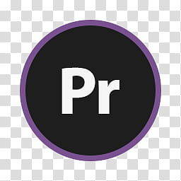 Circular Icon Set, Premiere Pro, Pr logo transparent.