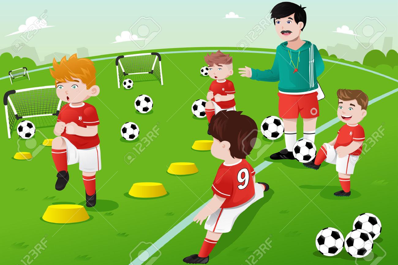 Soccer Practice Clipart.