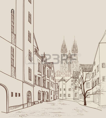 329 Prague Castle Stock Vector Illustration And Royalty Free.