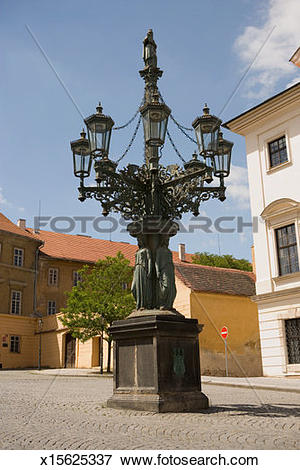 Picture of Low angle view of a street lamp, Hradcany Square.
