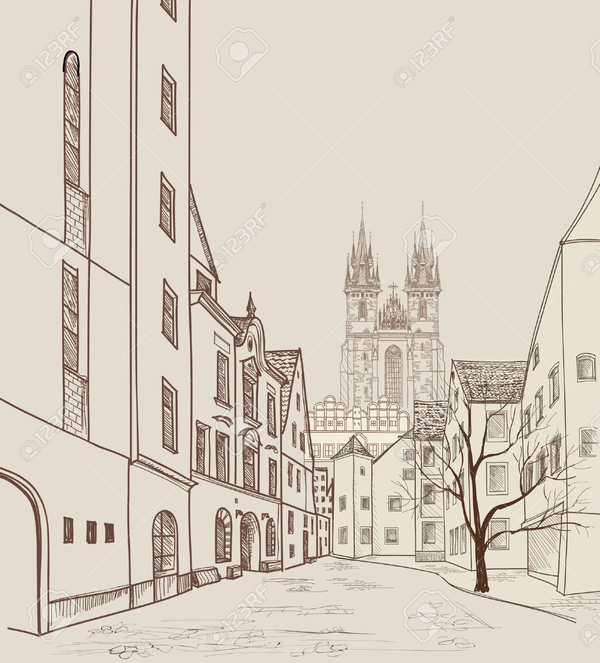 365 Prague Castle Stock Vector Illustration And Royalty Free.