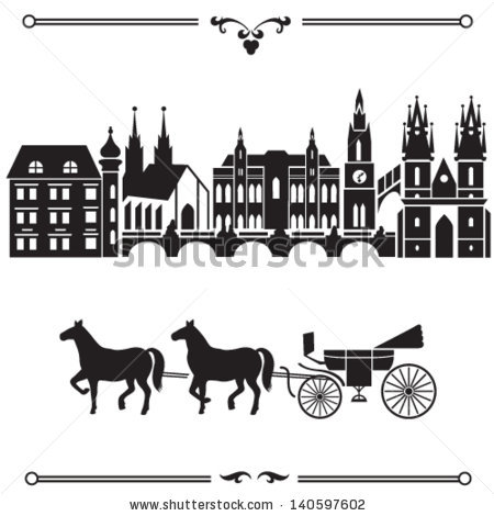 Vector Images, Illustrations and Cliparts: Prague illustration.