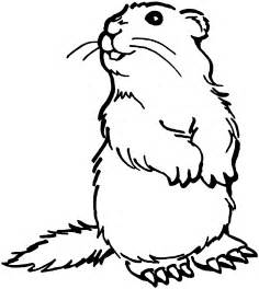 Prairie dogs clipart clipground for Prairie dog coloring page