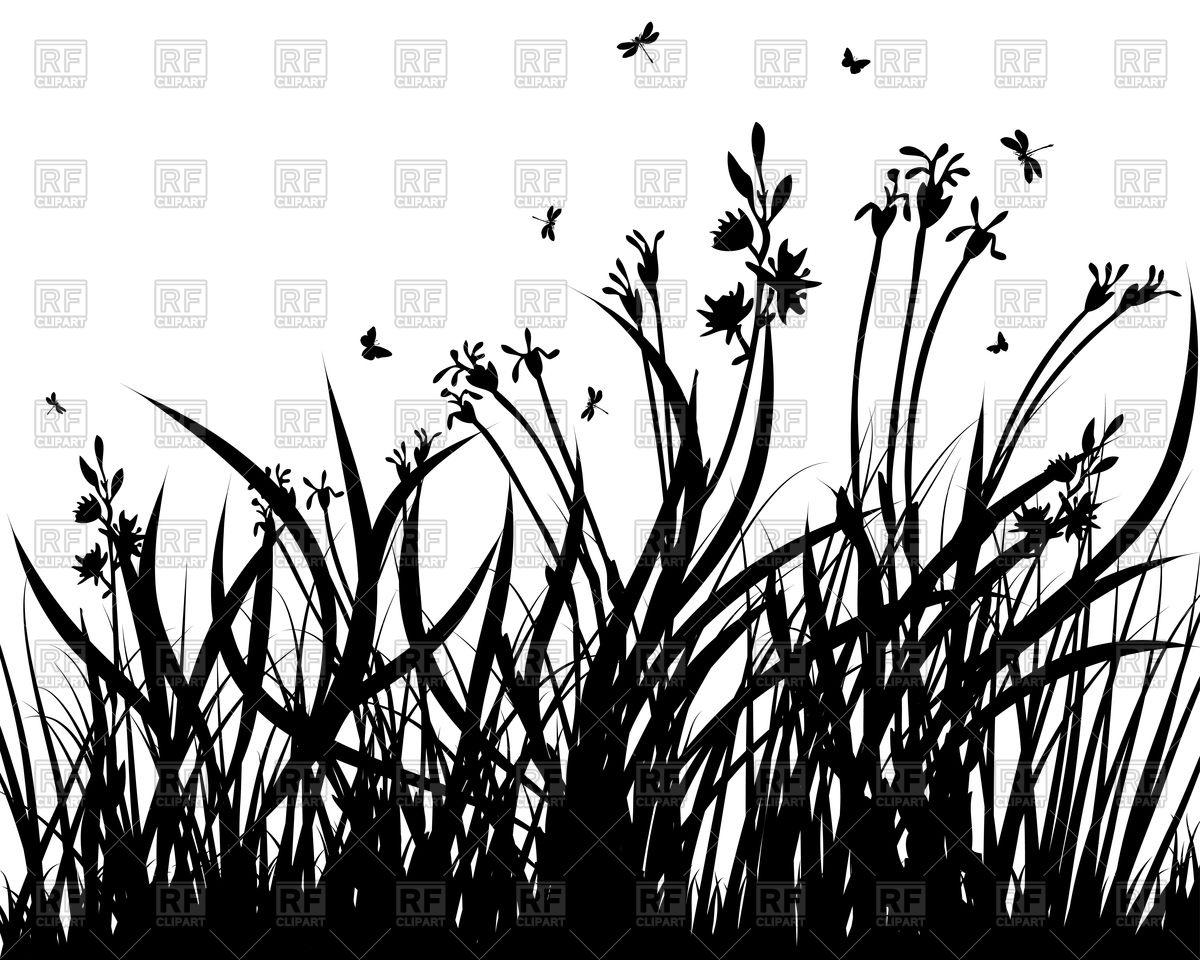Prairie grass silhouette Vector Image #92704.
