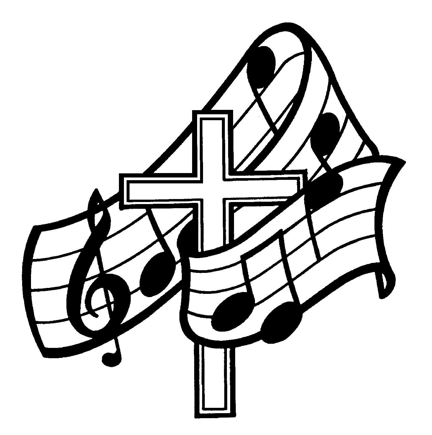 Worship Music Clipart.