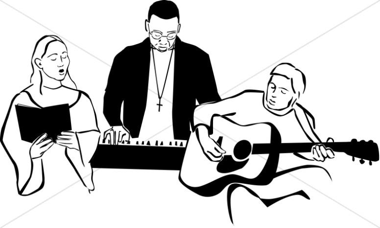 Black and White Worship Band.