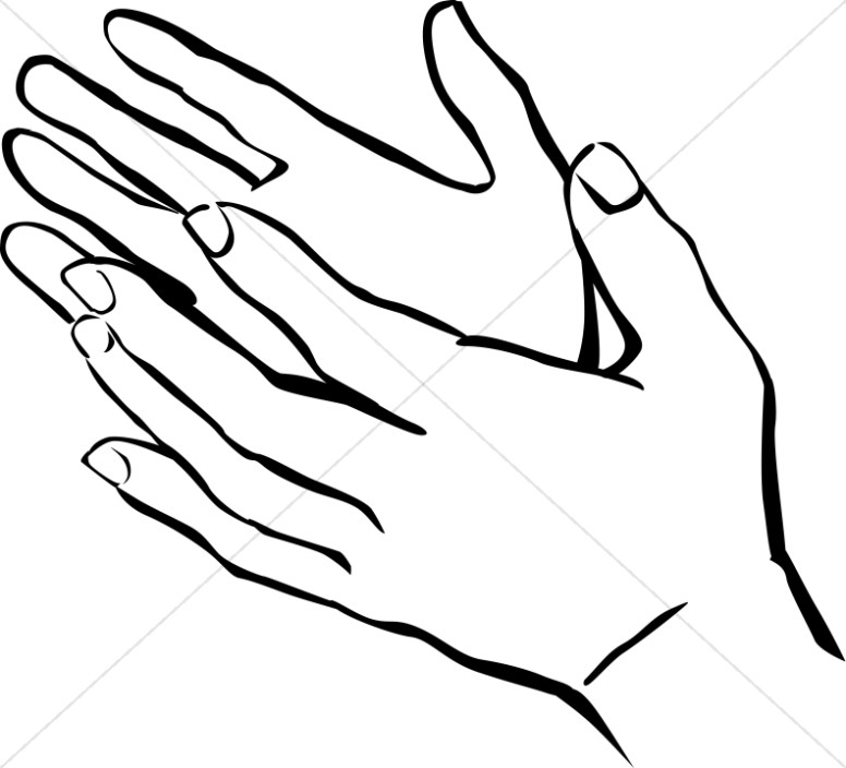 Hands Uplifted Clipart.