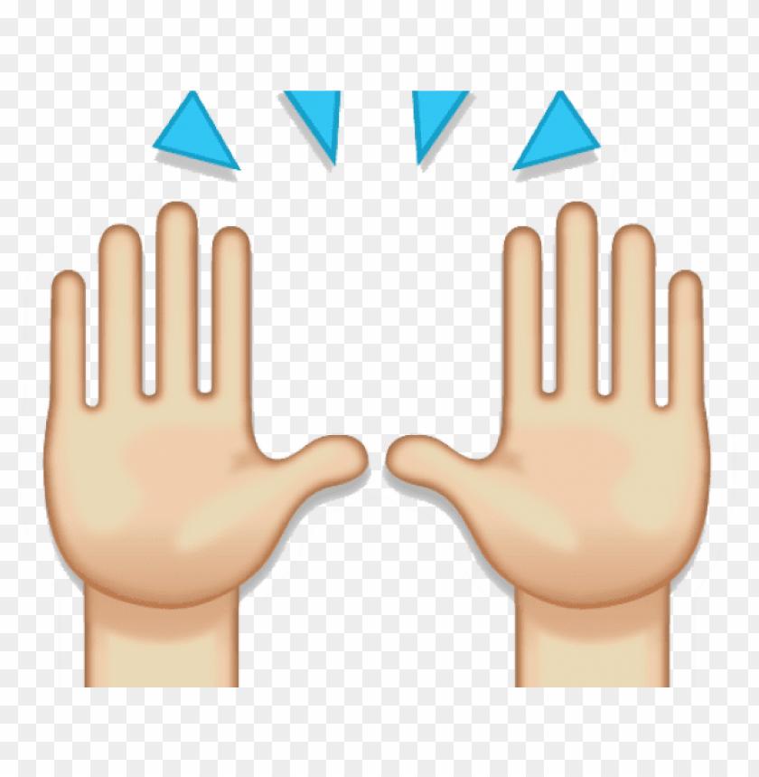 hand emoji clipart 100 percent.