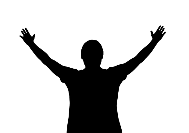 Free Hands Raised In Worship Silhouette, Download Free Clip.