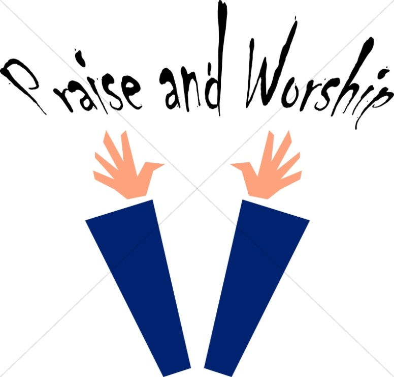 Praise and Worship Clipart Image.