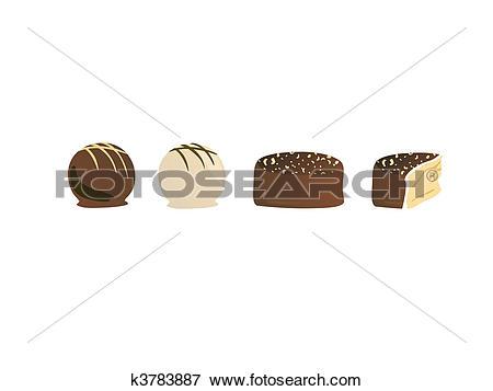 Clip Art of pralines k3783887.