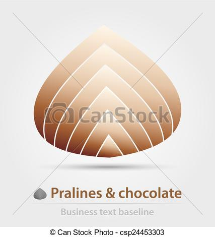 Vector Clipart of Pralines and chocolate business icon for.