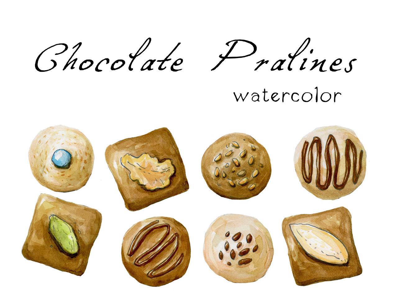 Chocolate pralines.