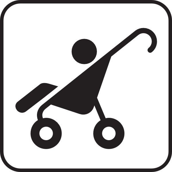 Stroller White Clip Art at Clker.com.