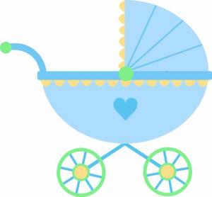 Baby Stroller Clipart.
