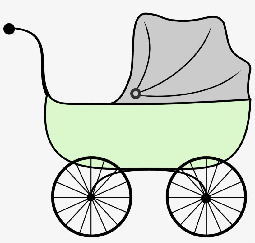 Baby Shower Printables Vintage Stroller Clipart.