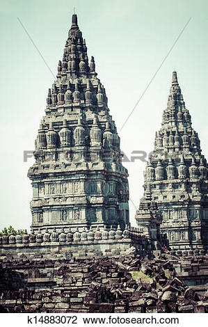 Stock Photo of Hindu temple Prambanan. Indonesia, Java, Yogyakarta.