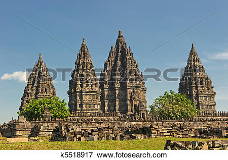 Picture of Prambanan temple, Java, Indonesia k5518917.