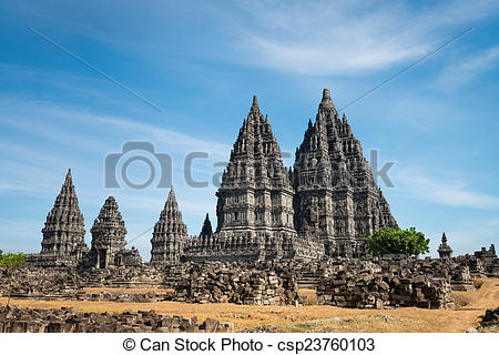 Stock Photography of Prambanan temple, Java, Indonesia.