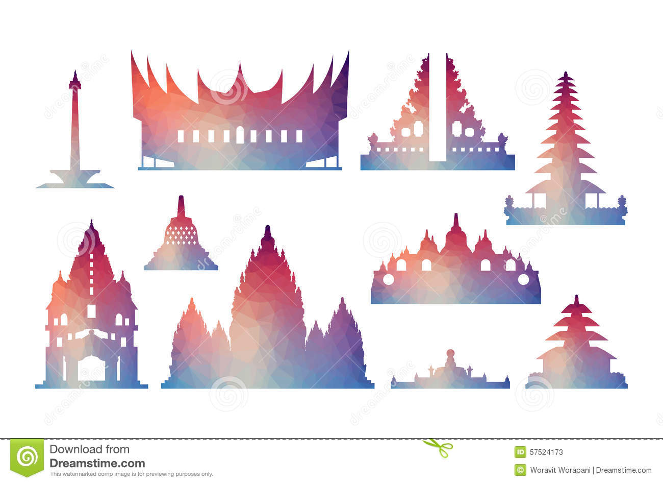 Prambanan Stock Illustrations.