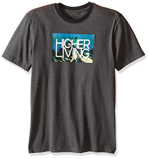 prAna Men\'s Higher Living Logo Ringer T.