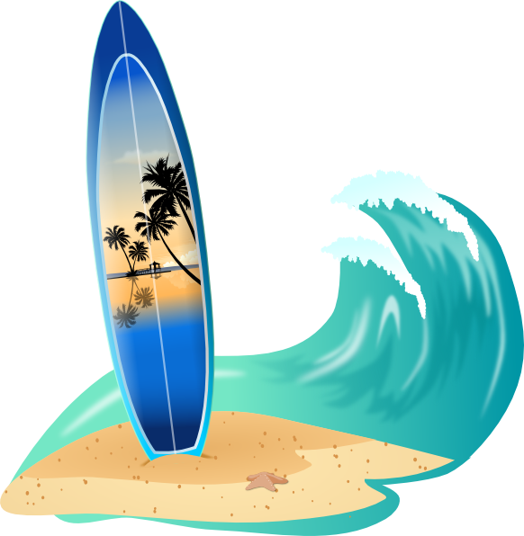 733 Surfing free clipart.