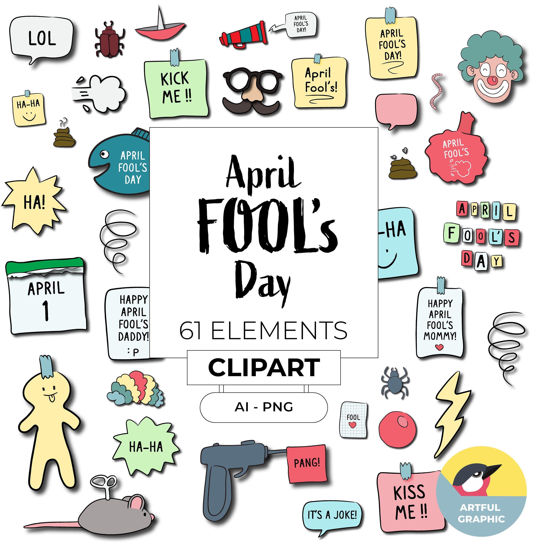 April Fool\'s Day clipart, April Fools Day, April Fools Prank.